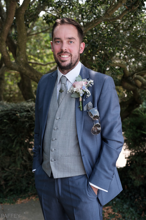 proud groom on his wedding day