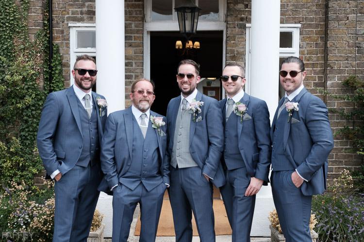 groom and grooms-men