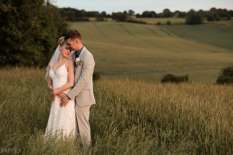 bride and groom enjoying a quiet moment
