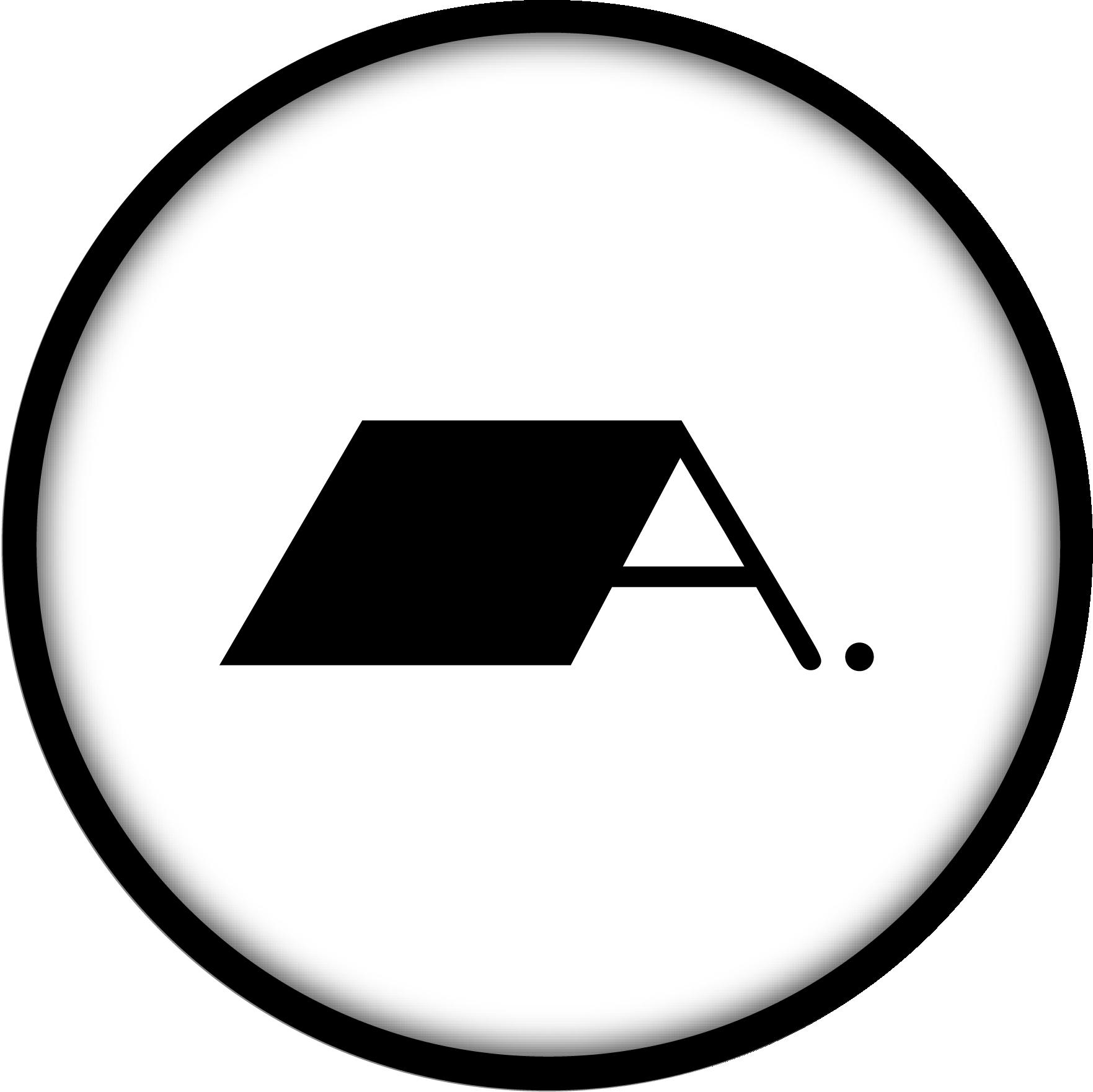 The Alex Design logo (white)