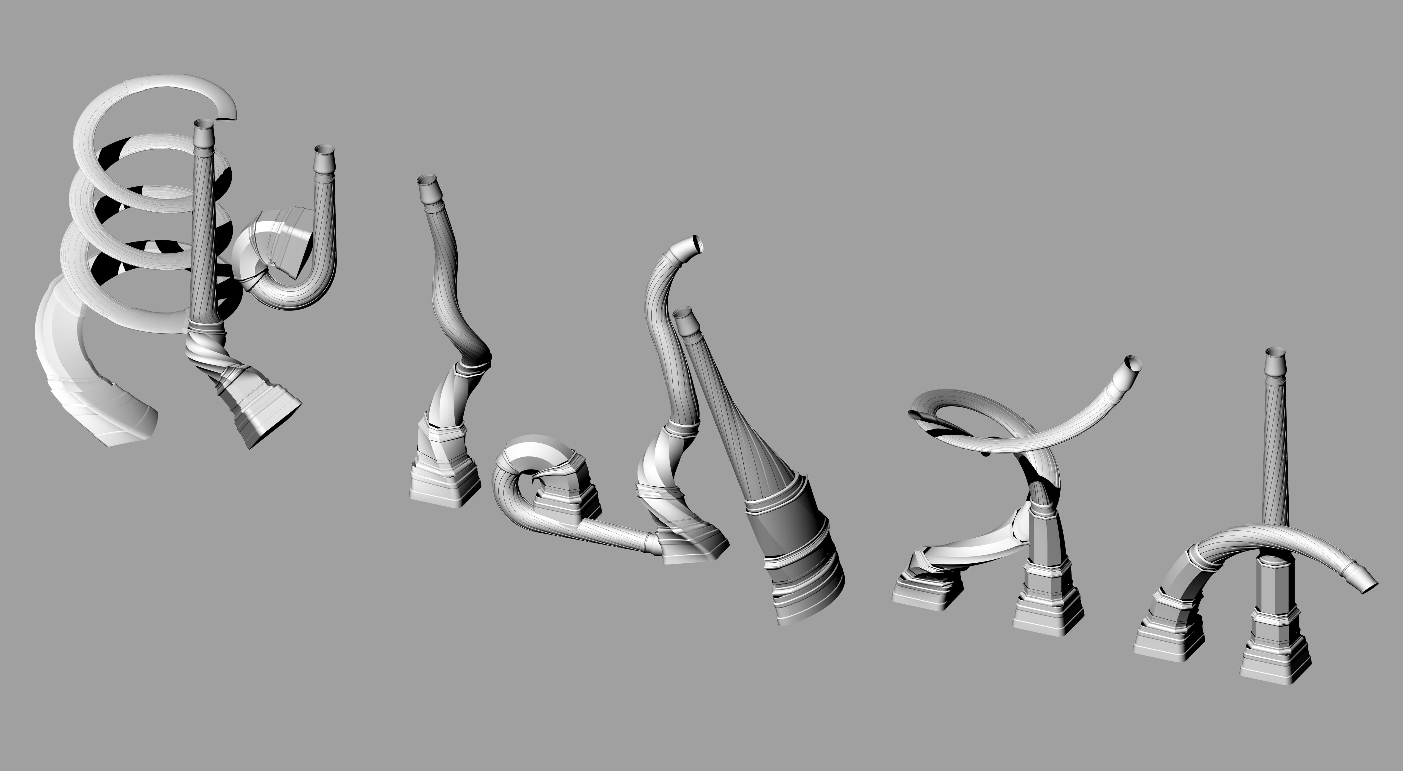 Billedet viser Carlsbergs Skorsten morphet, som om den bevæger sig