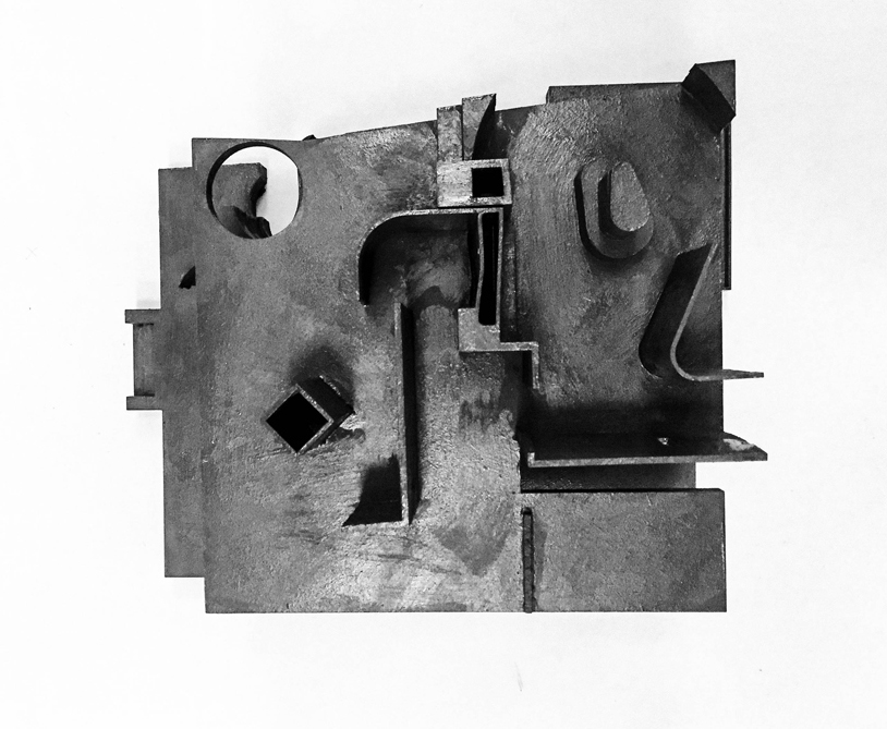 Billedet viser model af en af villaens etager
