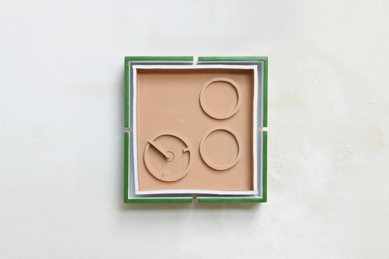 billedet viser et vægværk fra udstillingen 'Sludgecake'