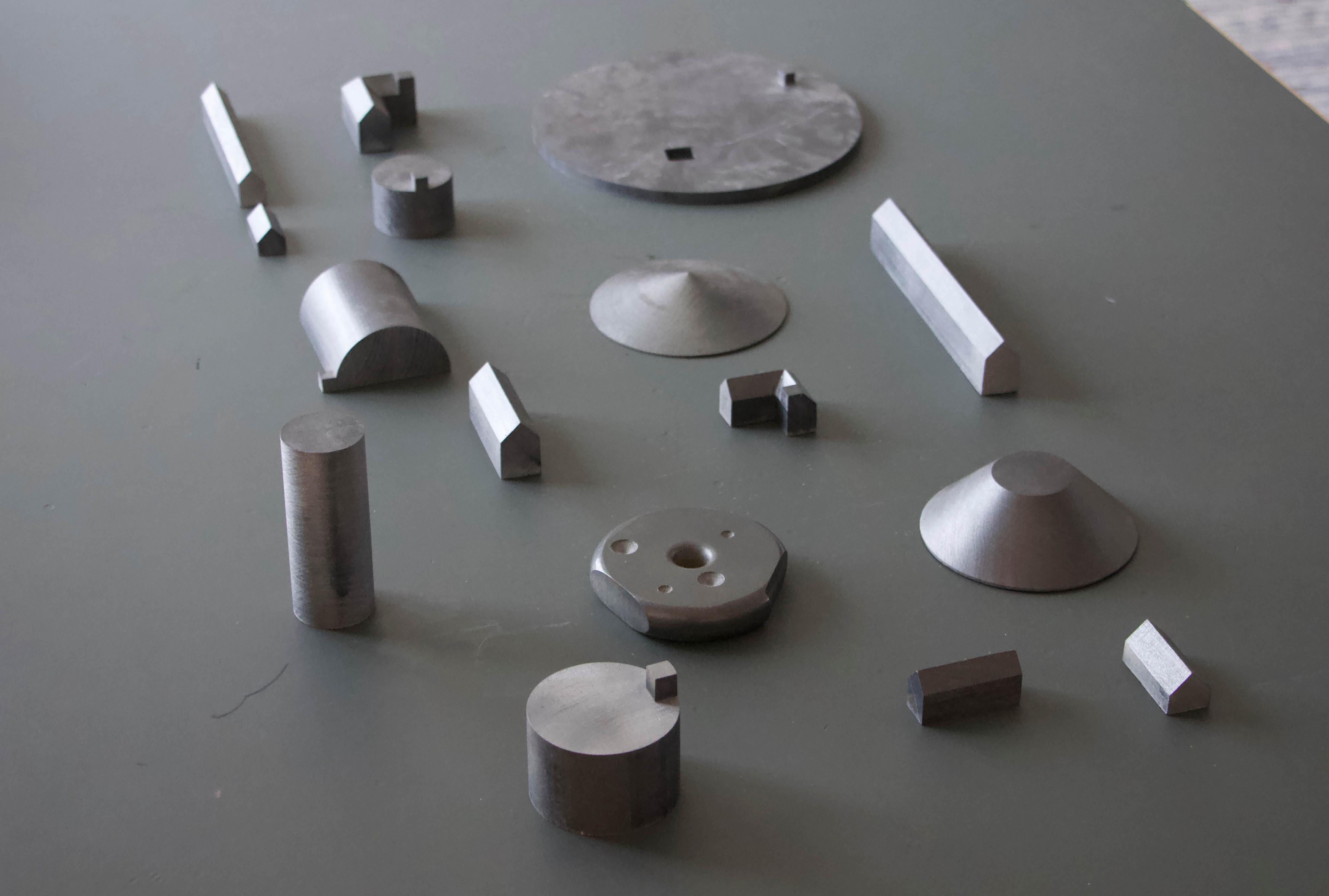 Billedet viser Steen Høyers modelkomponenter