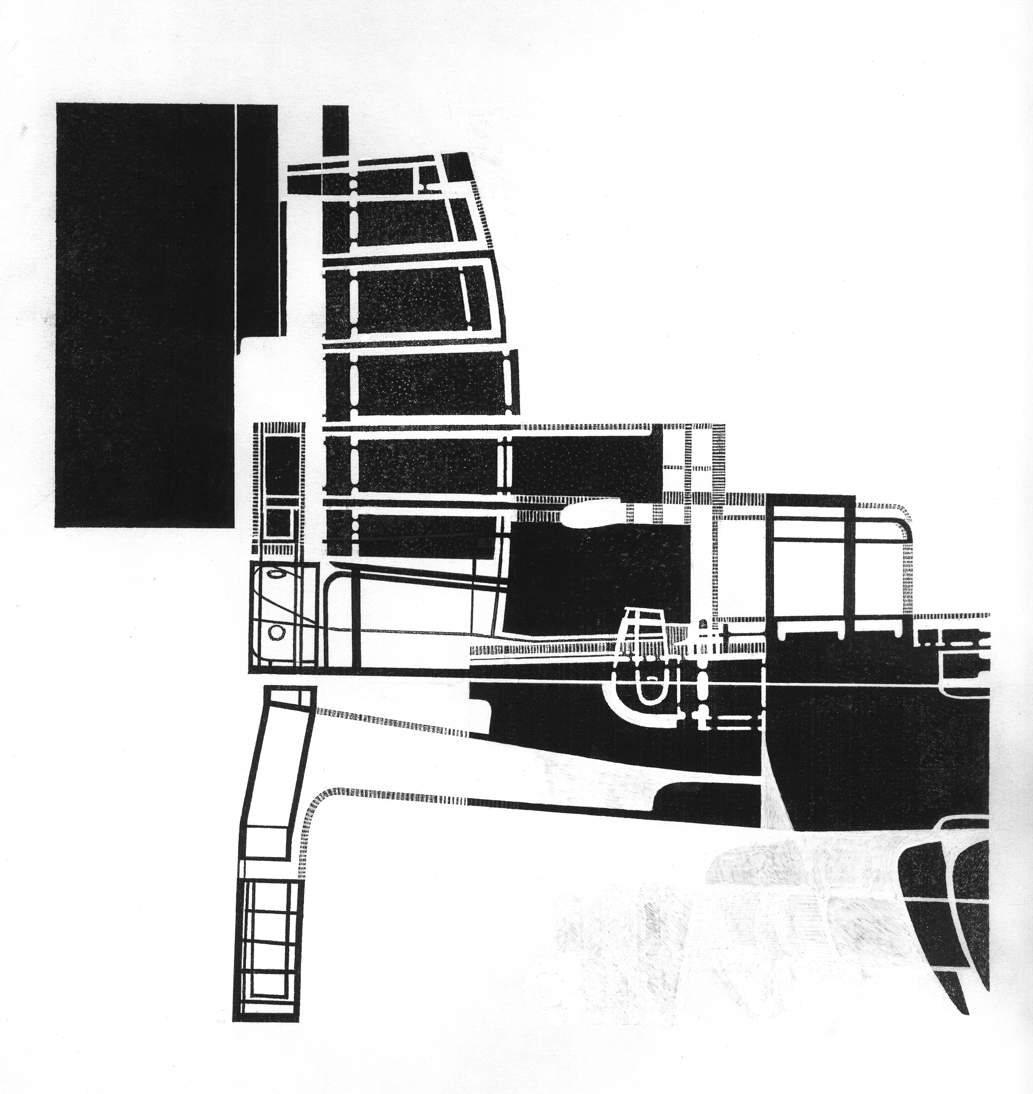 Billedet viser en tegning skabt af tryk fra stempel