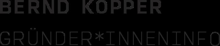 Logo - Bernd Kopper Gründer*inneninfo