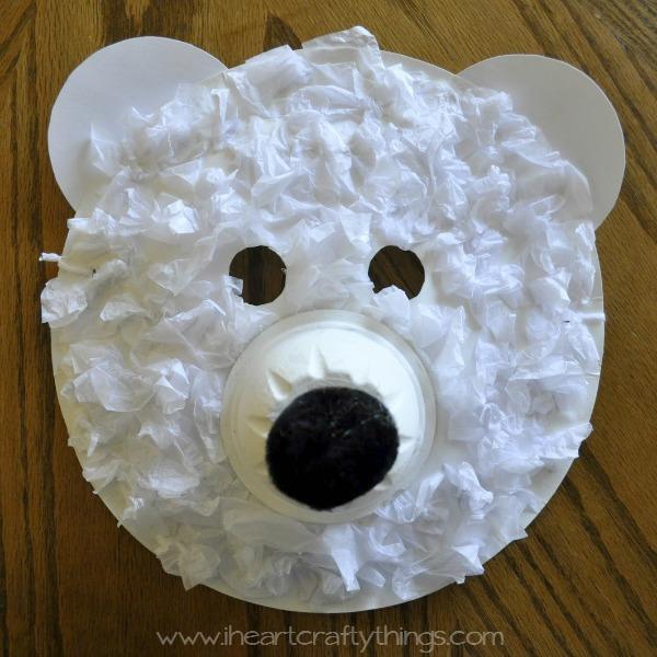 Polar Bear Mask via I Heart Crafty Things