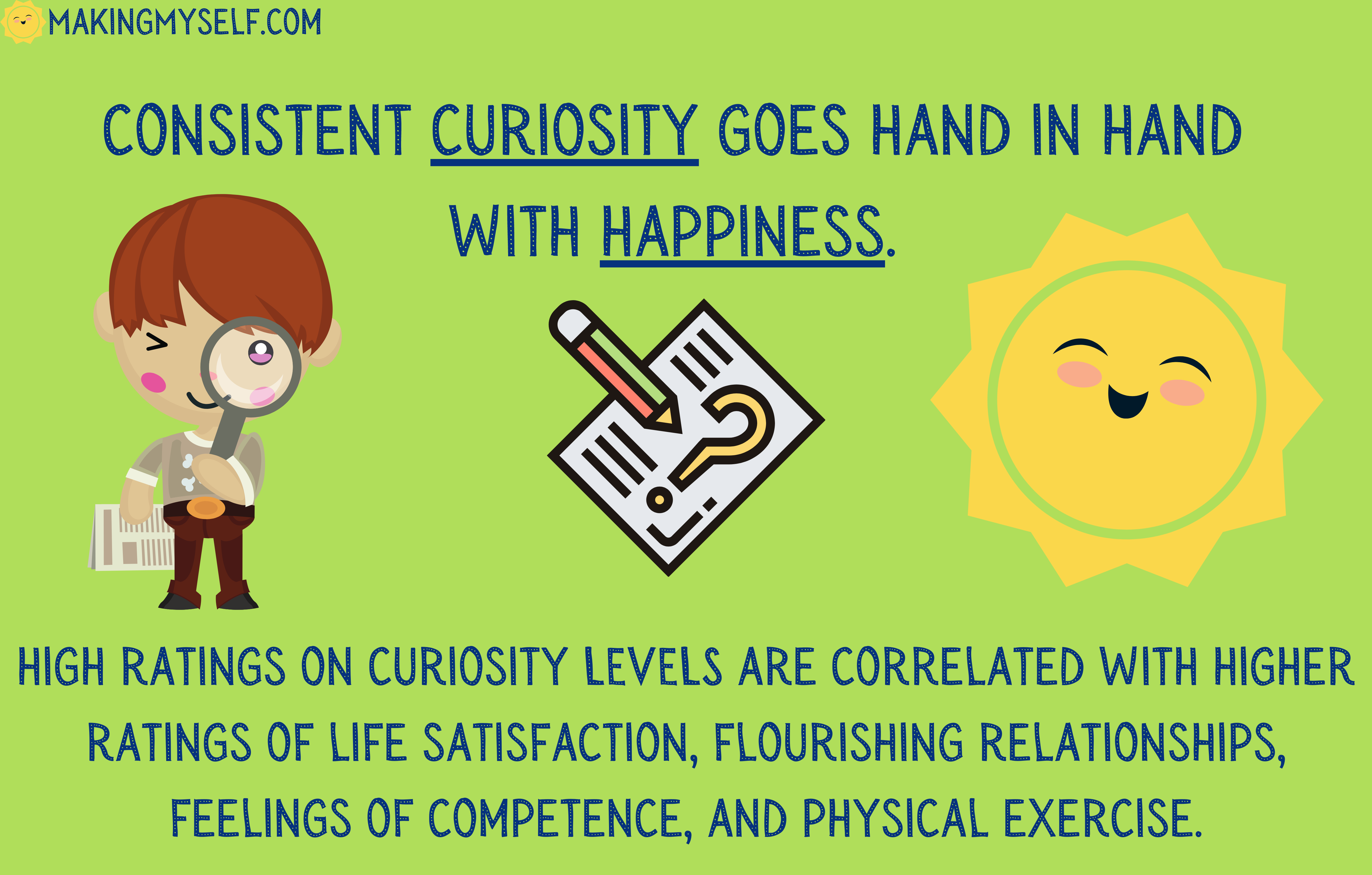 Consistent curiosity & happiness.
