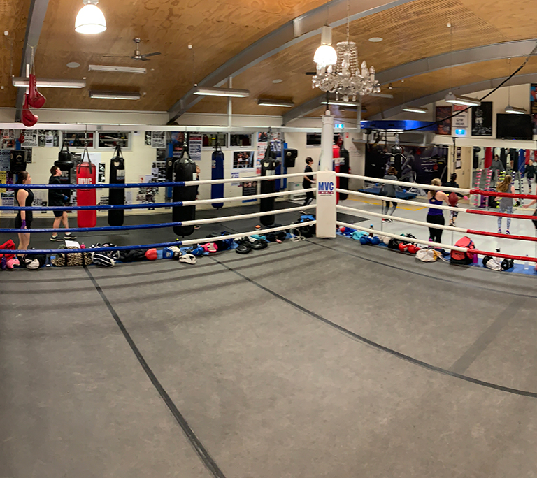 Full size ring in the centre of the gym