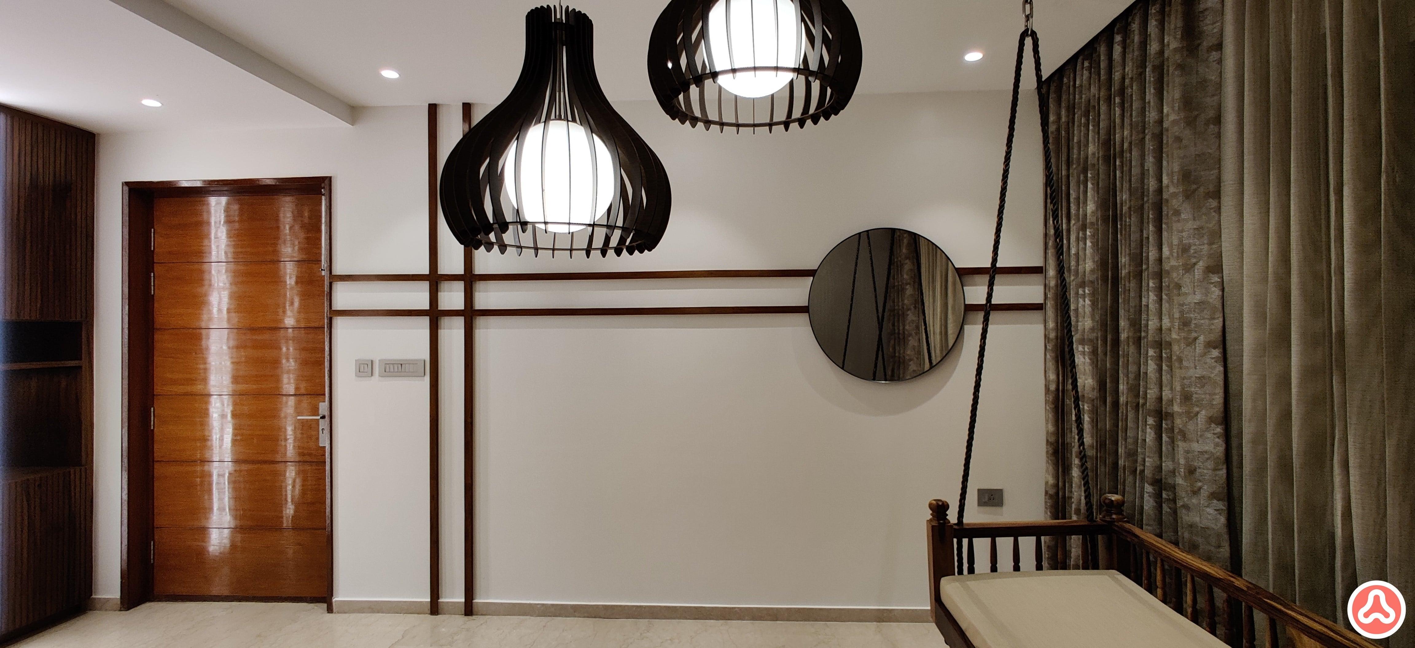 Wall beading and mirror