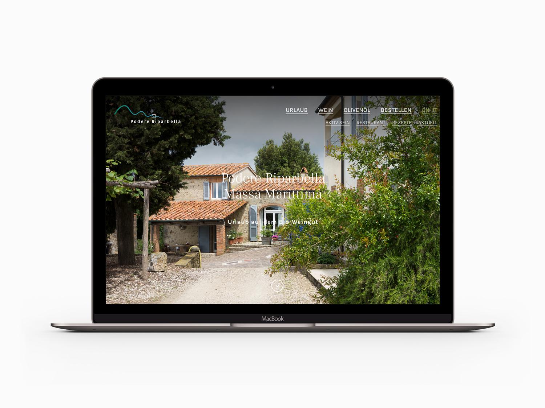 Mock-Up der neuen Website riparbella.com