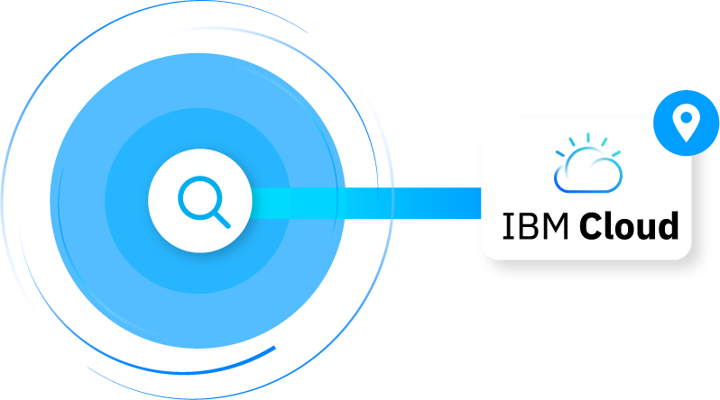 Graphic to search IBM Cloud locations on Cloudscene