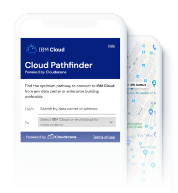 Screenshot of IMB Cloud Pathfinder located on Cloudscene