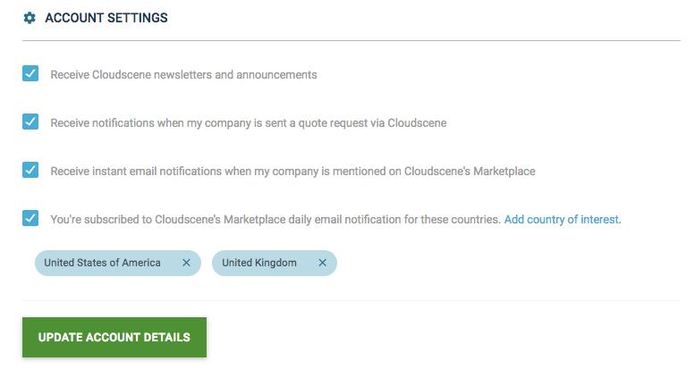 Notifications on Cloudscene