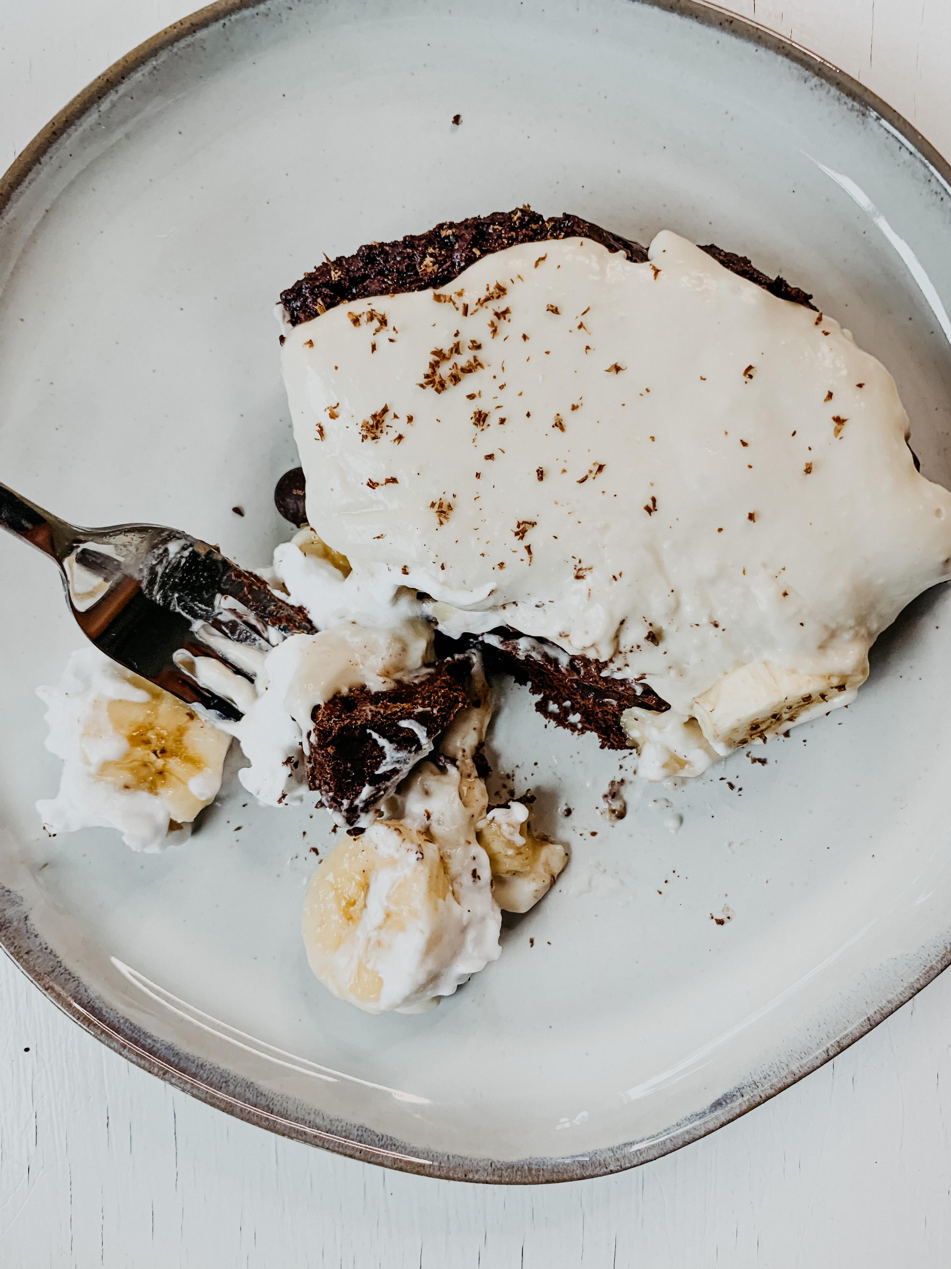 Banana cream brownie picture