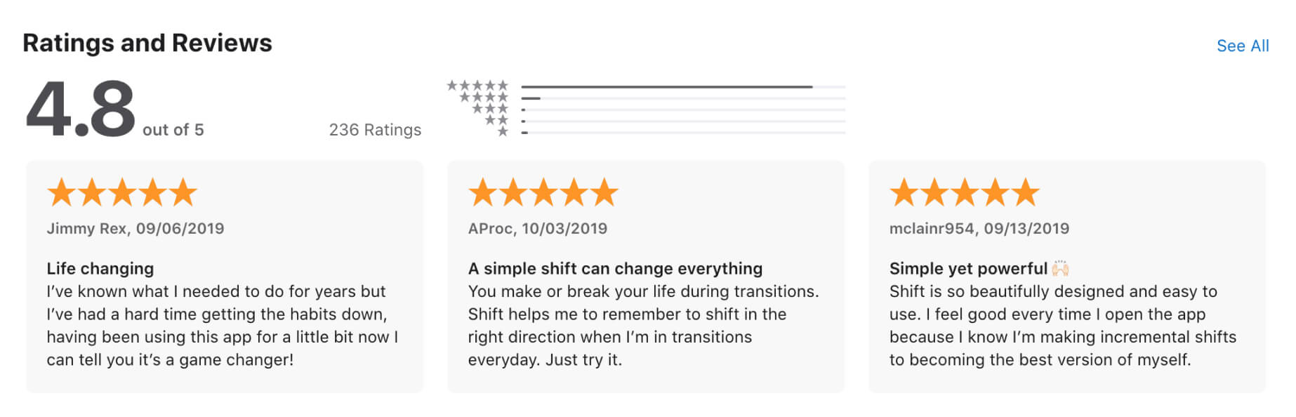 app store rating 5 stars