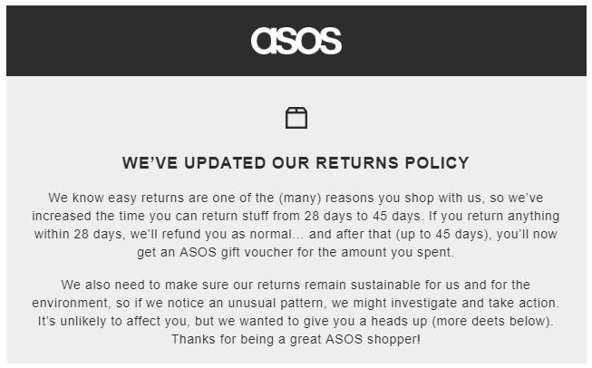 Refund policy updates