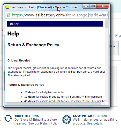 Return and refund policy example