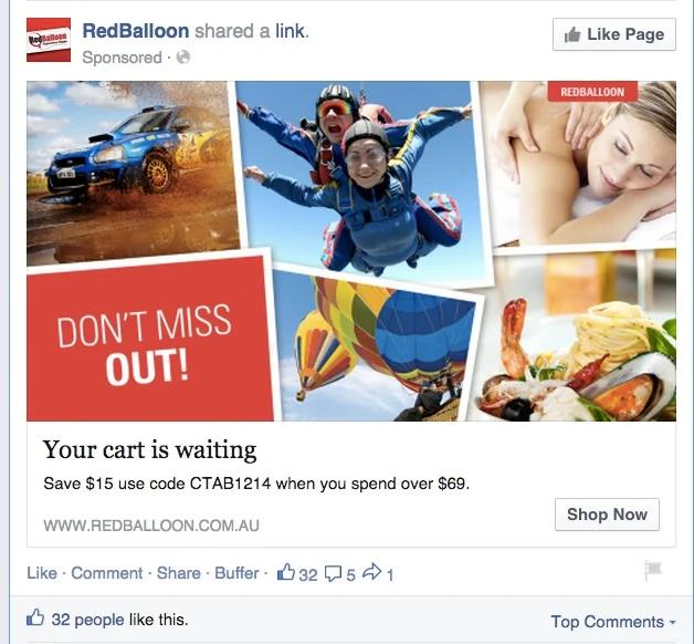 Dynamic retargeting ads
