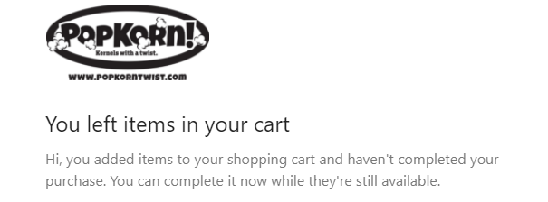 Example of complete your purchase emails