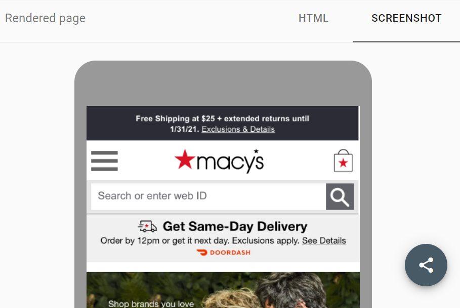 mobile friendly macy website