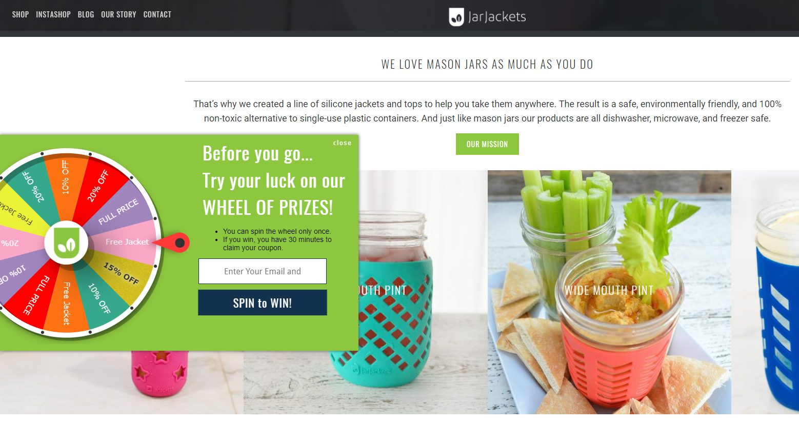 exit intent pop up for ecommerce conversion
