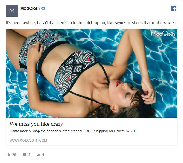 modcloth retargeting for conversions