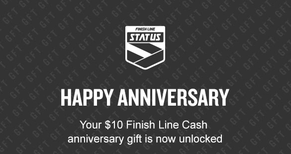 Finish Line's anniversary gifts