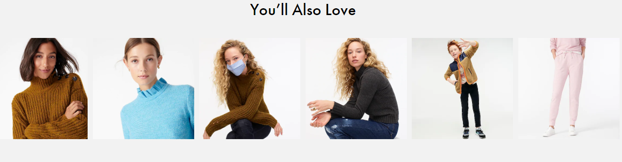 "J. Crew's ""you'll also love"""