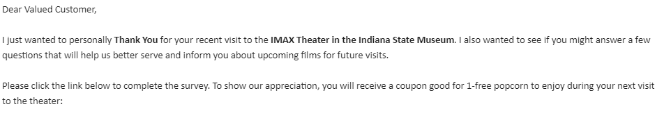 iMax Survey