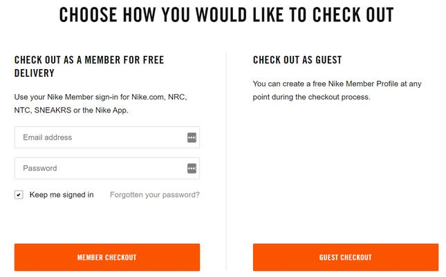 Sign up option can increase your eCommerce website checkout rate