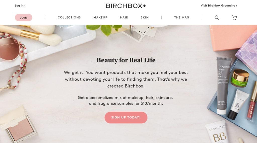 Birchbox subscription plan