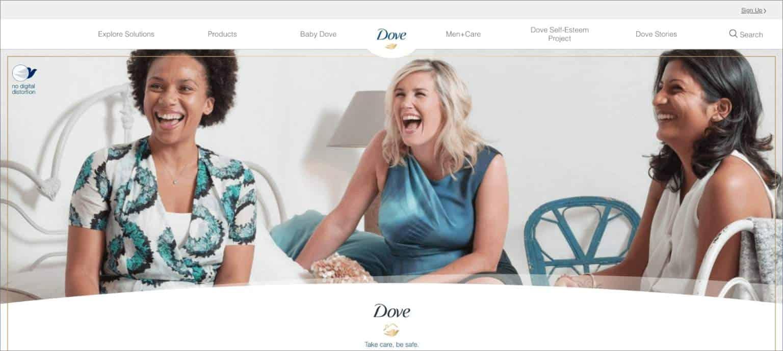 Dove using purpose driven branding