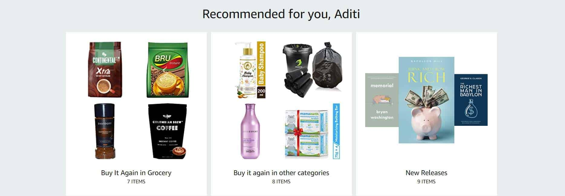 personalizing product recommendations