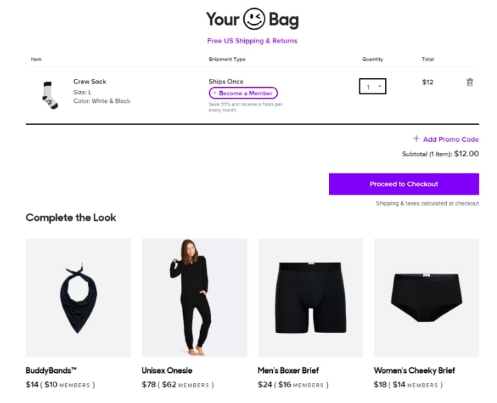 Example of cross-selling to optimize your product page