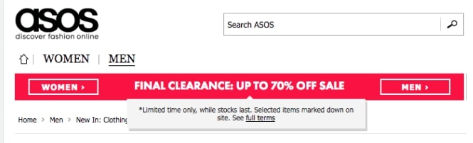 Example of urgency - An product page optimization example