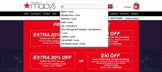search autocomplete - macy's