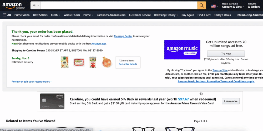 Amazon does a good job of telling their customers what to expect.