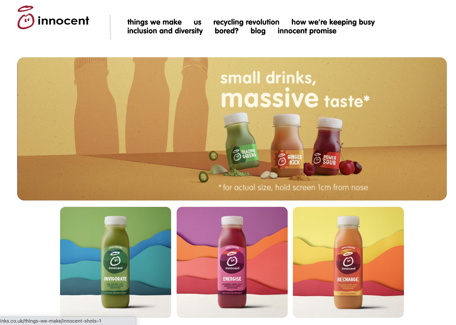 Innocent drinks - Defining personality