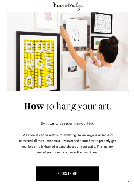Framebridge - How to hang your art