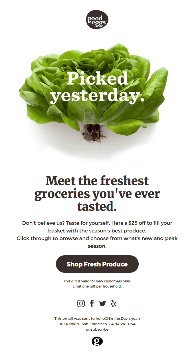 An email marketing idea that always works is using clear messaging