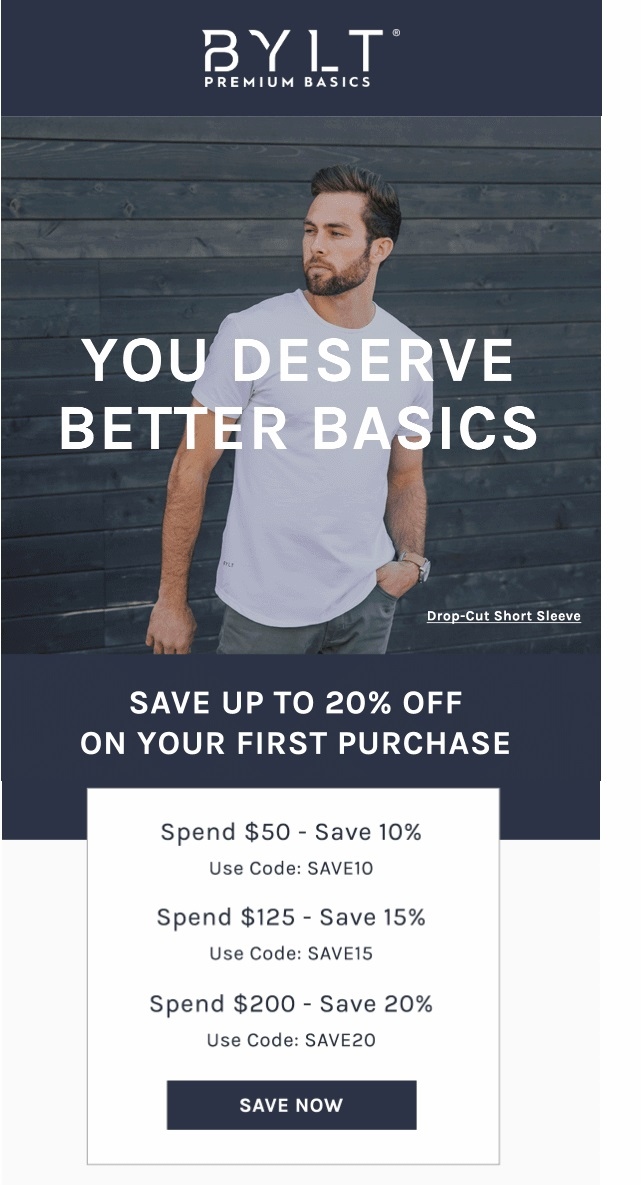Example of generating revenue with eCommerce welcome emails