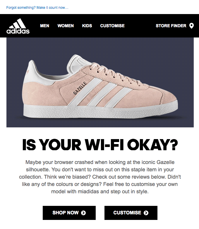 adding a human touch in email adidas