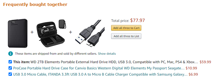 Amazon's product bundling