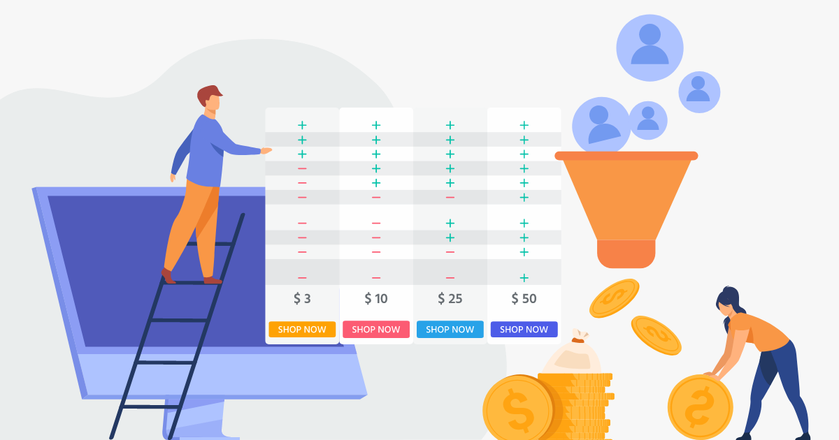 How To create an Amazon-like product comparison chart that converts