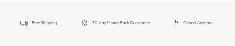 trust example - harry's 30 day money back