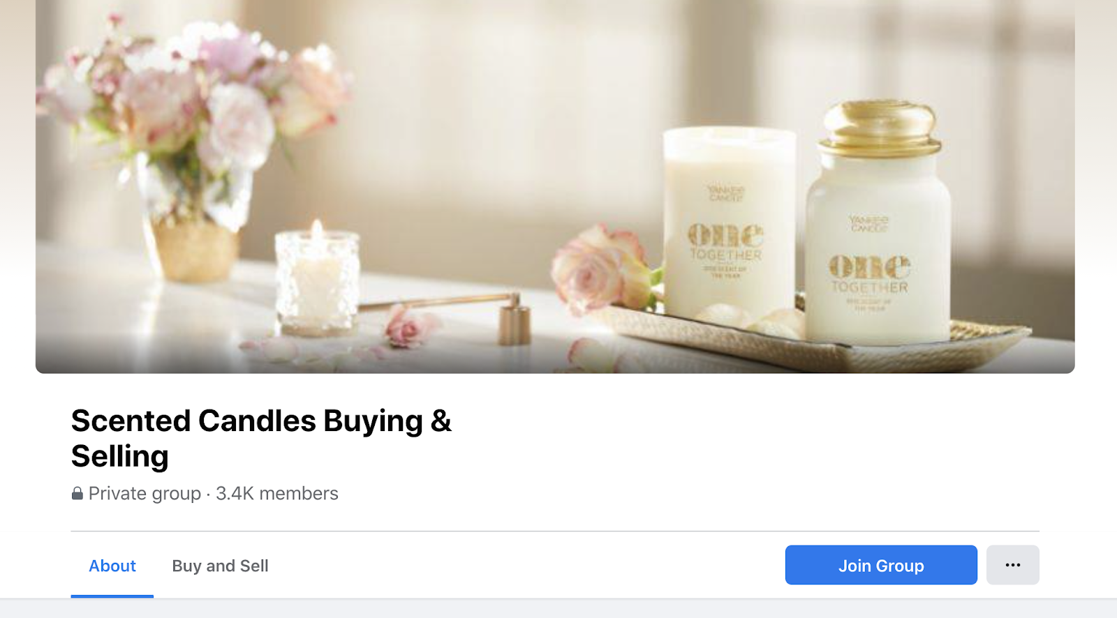 community marketing example - selling candles