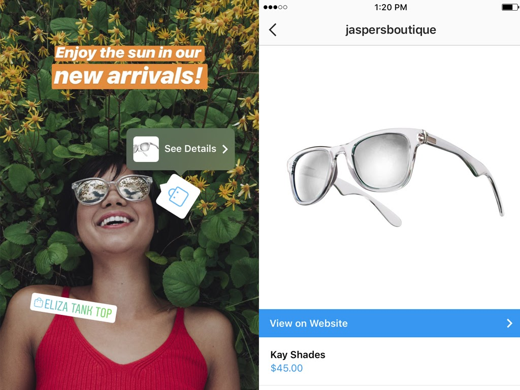 instagram store promotion through stories