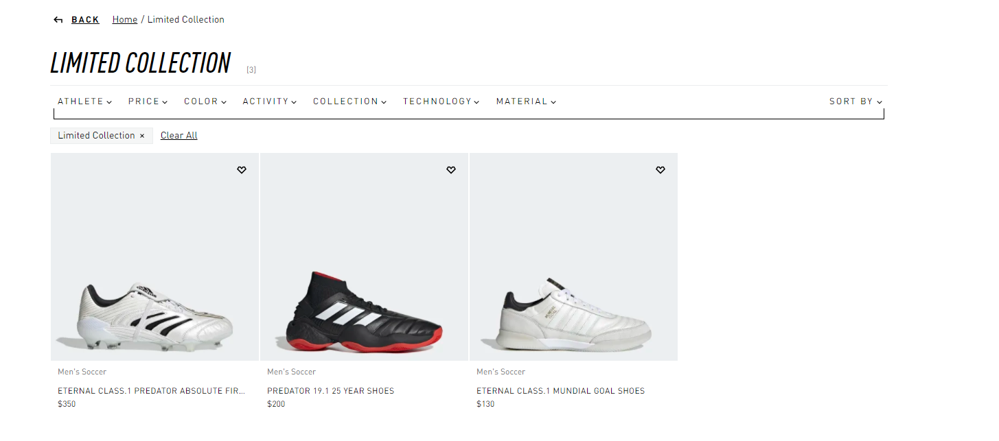 adidas limited collection