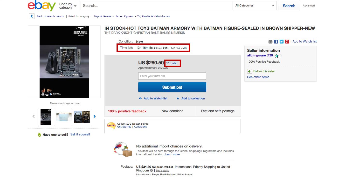 ebay - scarcity marketing